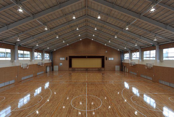 広島県立広島商高等学校 屋内運動場及び格闘技場改築工場