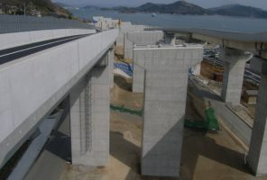 三原バイパス下木原高架橋下部工事